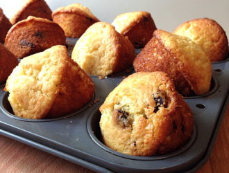 Muffins with Dried Cherries