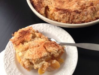Winter Peach Cobbler