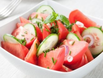 Grandma's Cucumber & Tomato Salad
