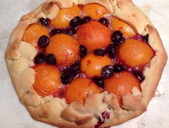 Apricot Cherry Rustic Tart