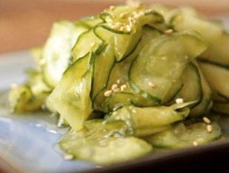 Cucumber Salad: Sunomono
