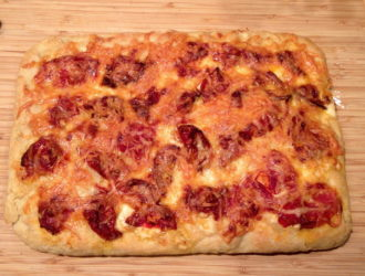 Grandma Pizza with Dried Tomatoes