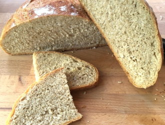 No-Knead Wheat Bread from Fresh-Ground Flour