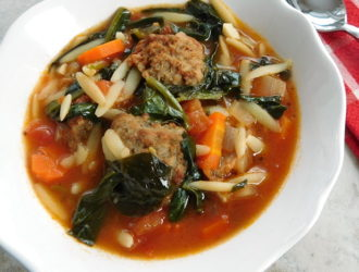 Meatball & Orzo Soup Two Ways