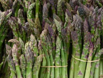 Fresh Asparagus at the Market