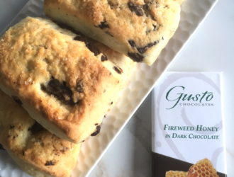 Scones with Fireweed Honey Bar