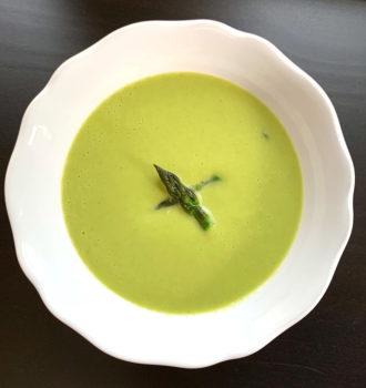 Creamy Asparagus Soup for 2
