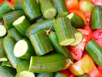 Old-fashioned cucumber & tomato salad